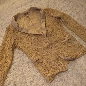 Forever 21 Contemporary Lace Blazer